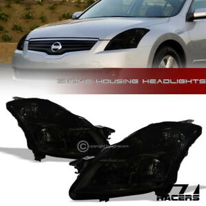 For 2007 2009 Nissan Altima Sedan Smoke Clear Housing Headlights Signal Pair Nb