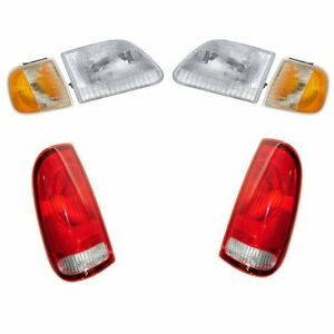 Headlight Parking Marker Lamp Tail Light Set Of 6 For 97 03 Ford F150 Truck New