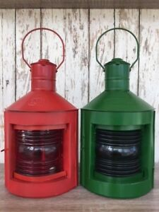 Multi Color Port Starboard Lanterns Green Red Ship Oil Lamp Nautical