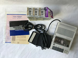 Vintage Olympus Opitcal Microcassette Transcriber 1100 bundle Deal Tested