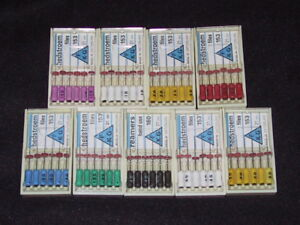 Dental H Files Endodontic Assorted Sizes 21mm 10 50 54 Files 9 Boxes Swiss Made