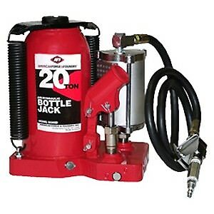 American Forge Foundry 5620sd 20 Ton Air hydraulic Super Duty Bottle Jack