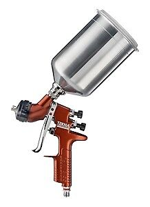 Tekna With Cup Copper Gravity Feed Basecoat clearcoat Spray Gun 1 3 1 4 7e7