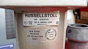 Russellstoll Connector Jcs1034h 100 amp 3p 4w 600 vac
