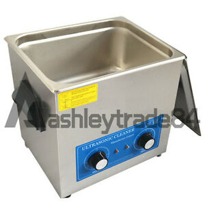 10l Ultrasonic Cleaner With Heater 240w Jewelry Watches Dental Tattoo New