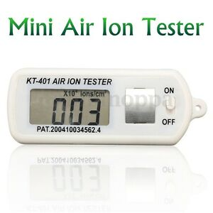 Air Ion Tester Meter Counter ve Negative Ions With Peak Maximum Hold Battery