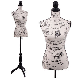 Female Mannequin Torso Clothing Display W stand Khaki Base And Letter Pattern