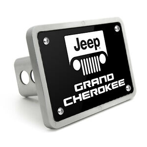Jeep Grand Cherokee Uv Graphic Black Plate Billet Aluminum 2 X2 Tow Hitch Cover