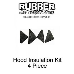 1966 1967 Ford Fairlane Hood Insulation Kit 4 Pc