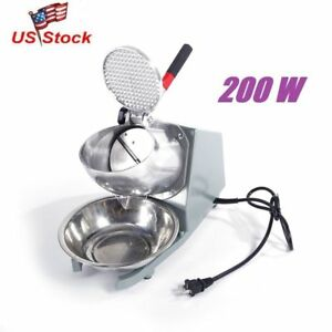 Practical Electric Shaver Ice Machine Snow Cone Crusher Shaving Cold Drink 200w