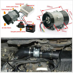12v 210w Car Electric Turbine Turbo Charger Bold Lines automatic Controller Kit