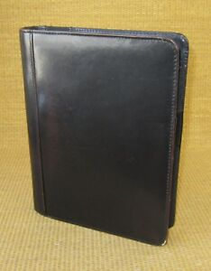 Classic 1 25 Rings Black Leather Franklin Covey Open Planner binder
