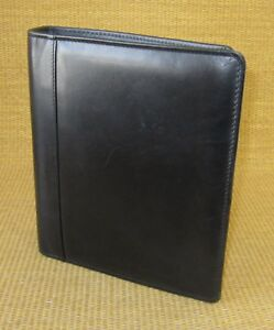 Classic 1 5 Rings Black Leather Franklin Covey quest Open Planner binder