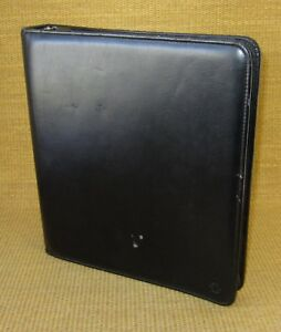 Monarch 1 75 Rings Black Sim Leather Franklin Covey Zip Planner binder