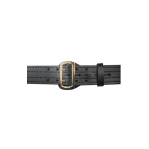 Boston Leather 6504 1 42b Black Plain Stitched 2 25 Brass Hw Duty Belt 42