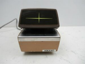 Amano 4746 Time Recorder Automatic Time And Date Stamp Vintage Office Unit