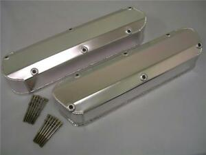 Small Block Ford 289 302 351w V8 Polished Aluminum Fabricated Valve Covers Sbf