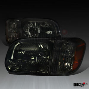 For Toyota 2005 2006 Tundra 2005 2007 Sequoia Smoke Lens Headlights Corner Lamps