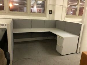 6 X 8 X 48 h Cubicle Partition System By Haworth Premise In Gray Fabric