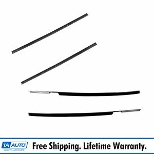 Window Sweep 4 Hole Weatherstrip Inner Outer Pair For 63 64 Corvette Convertible