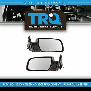 Trq Manual Black Side Mirrors Left Lh Right Rh Pair Set Of 2 For Pickup Truck