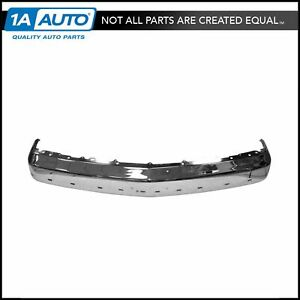 Chrome Front Bumper W Impact Strip Provision For Chevy Gmc C K Pickup Truck