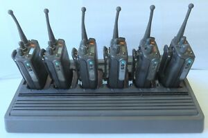 Motorola Mts2000 6 Radios Batteries W Charger Tested 800 900 Stubby Antennas