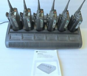 Motorola Mts2000 6 Radios Batteries Tested 800mhz Impres Multi unit Charger