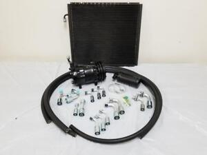 Universal 134a Air Conditioning Ac Hose Drier Kit Black Compressor Condenser