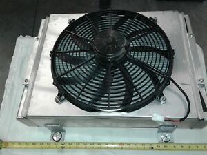 Double Pass Street Rod Radiator With 16 Inch Pull through Fan New