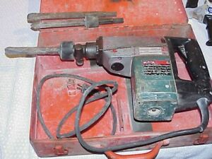 Bosch 11306 Demolition Chipping Hammer W 3 Bits And Case Used