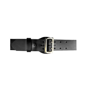 Boston Leather 6501 3 38 Black Basketweave Fully Lined Sam Browne Belt Sz 38