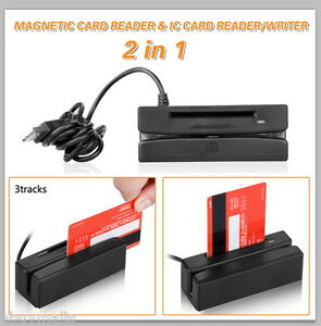 Sale Usb 3 Track Magnetic Stripe Card Reader For Ic Credit Card Dual Direction