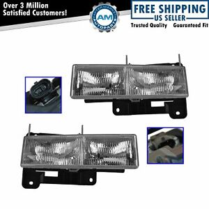 Oem 15034929 15034930 Headlight Lh Left Rh Right Pair Set For Chevy Gmc