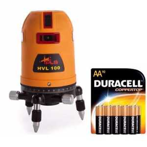 Pacific Laser Systems Hvl100 Multi Line Laser W 10 Pack Duracell Aa Batteries