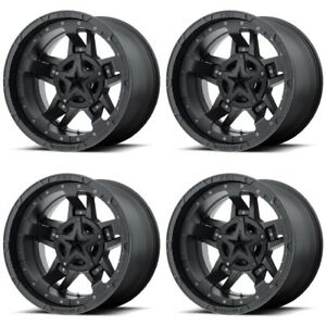 Set 4 20 Xd Series Xd827 Rockstar 3 Black Wheels 20x9 5x5 5 5x150 25mm Dodge