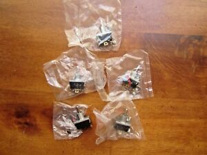 Toggle Switches Lot Of 5 Mcgill 93 0001 Spdt 20 Amp 125 250 Vac