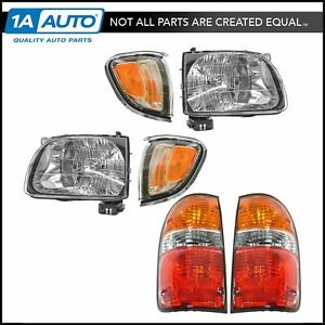 Headlight Parking Marker Tail Light Lamp Set Of 6 For 01 04 Toyota Tacoma New