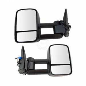 Towing Mirror Heated Signal Upgrade Power Folding Textured Pair For Gm New