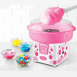 Cotton Candy Maker Machine Hard Or Sugar free Nostalgia Electrics Pcm405wmln