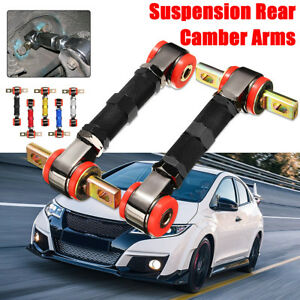 Adjustable Racing Rear Suspension Camber Control Arms Kit For Honda Civic Acura