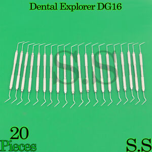 20 Dental Diagnostic Probe Endo Explorer Dg 16 Double Ended Instruments