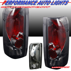 Set Of Pair Chrome Smoke Taillights For 1989 1996 Ford F 150 F 250 F 350 Bronco