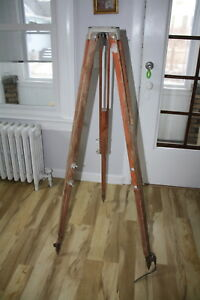 Large Surveying Keuffel Esser Leveling Tripod Equipment Up To 60 Heavy Duty