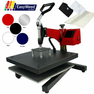 15 x15 Digital Swing Away Heat Press Machine Print Tshirts Sublimation bundle