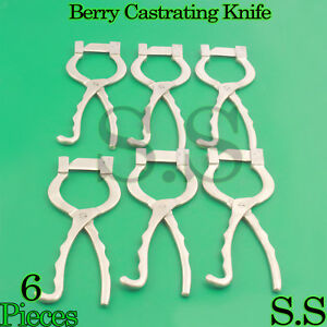 6 Newberry Castrating Knife Castrate Cattle Bulls