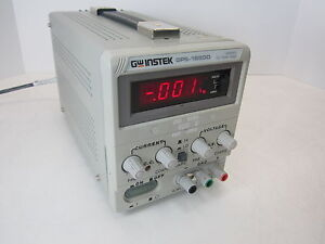 Gw Instek Gps 1850d Laboratory Dc Power Supply Programmable 0 18v 0 5a Parallel