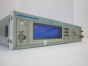 Marconi Instruments Signal Generator 2024 9khz 2 4ghz W Opt 104