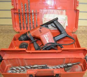 hilti Te 15 Corded Electric 3 8 Sds Rotary Hammer Drill W Case 7 Bits