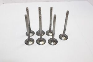 Del West Titanium Exhaust Valves 11 32 X 1 600 Chevy Manley